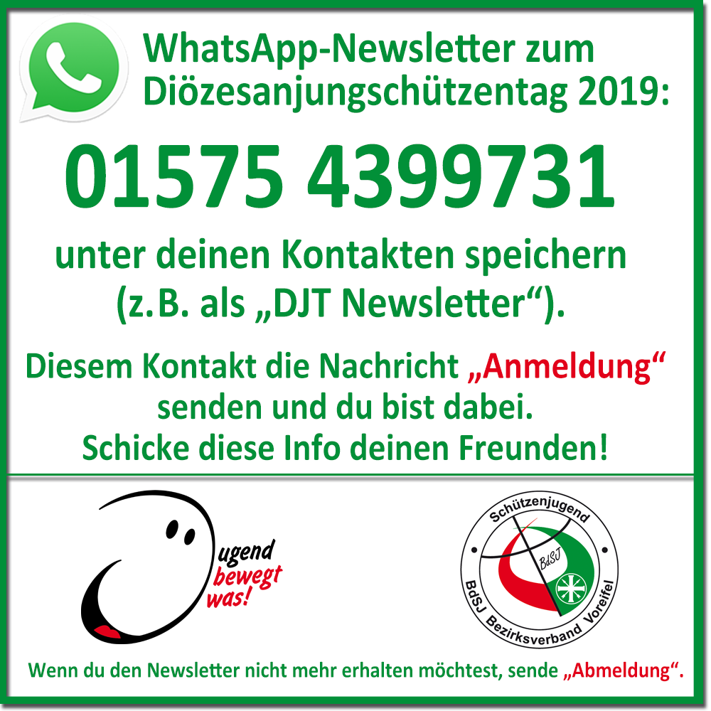 DJT 2019 Whatsapp Newsletter